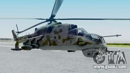 Mi-24V Soviet Air Force 14 for GTA San Andreas