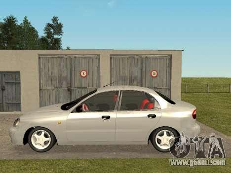 Daewoo Lanos (Sens) 2004 v1.0 by Greedy for GTA San Andreas left view