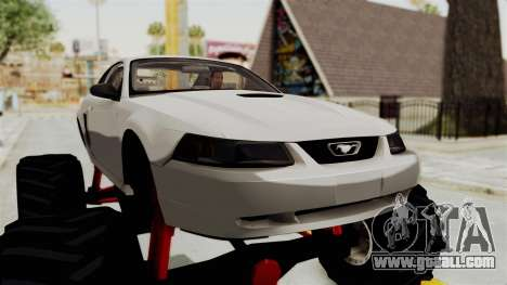Ford Mustang 1999 Monster Truck for GTA San Andreas back view