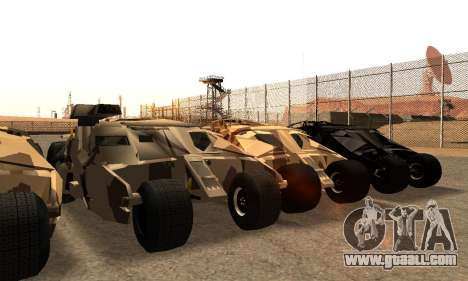 Army Tumbler Gun Tower from TDKR for GTA San Andreas bottom view