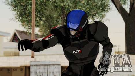 ME2 Shepard Default N7 Armor with Capacitor Helm for GTA San Andreas