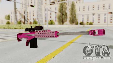 GTA 5 Heavy Sniper Pink for GTA San Andreas