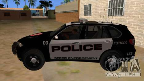 2014 BMW X5 F15 Police for GTA San Andreas left view