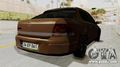 Opel Astra Sedan 2011 for GTA San Andreas back left view
