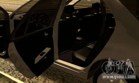 Mitsubishi Lancer 2005 for GTA San Andreas inner view