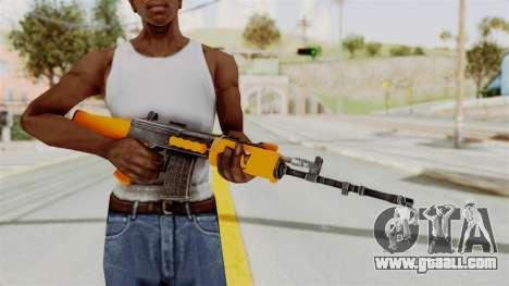 IOFB INSAS Plastic Orange Skin for GTA San Andreas third screenshot