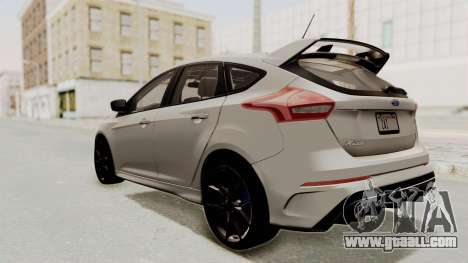 Ford Focus RS 2017 for GTA San Andreas left view