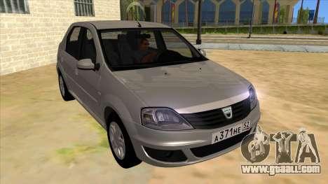 Dacia Logan for GTA San Andreas back view