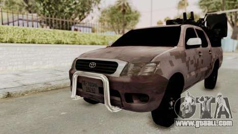 Toyota Hilux 2014 Army Libyan for GTA San Andreas
