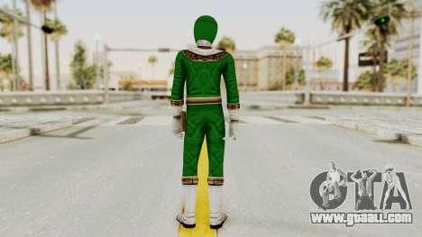 Power Ranger Zeo - Green for GTA San Andreas third screenshot