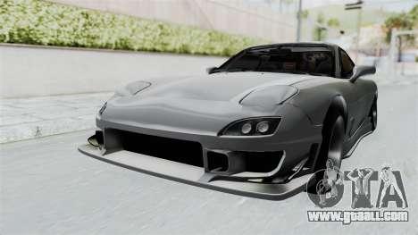 Mazda RX-7 FD3S HellaFlush for GTA San Andreas right view