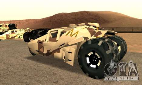 Army Tumbler Gun Tower from TDKR for GTA San Andreas left view