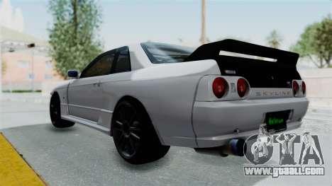 Nissan Skyline BNR32 Hot Version for GTA San Andreas left view