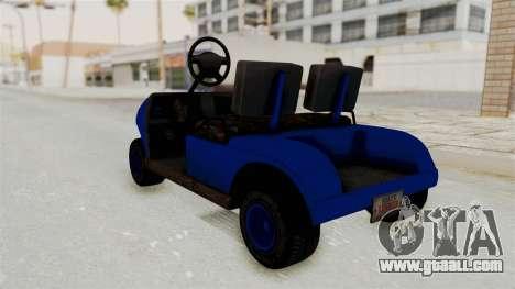 GTA 5 Gambler Caddy Golf Cart IVF for GTA San Andreas back left view