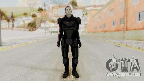 Mass Effect 2 Shepard Default N7 Armor No Helmet for GTA San Andreas second screenshot