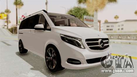 Mercedes-Benz V-Class 2015 for GTA San Andreas right view