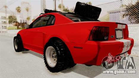 Ford Mustang 1999 Rusty Rebel for GTA San Andreas back left view