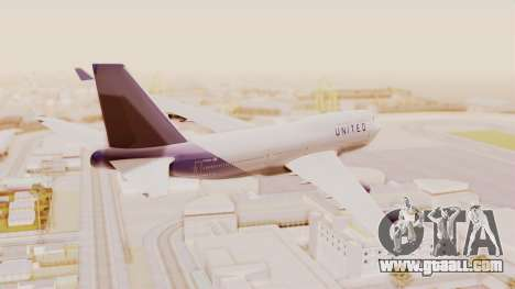 Boeing 747-400 United Airlines for GTA San Andreas left view