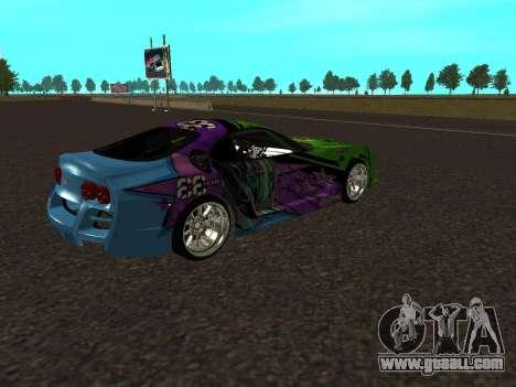 Toyota Supra Evil Empire for GTA San Andreas back view