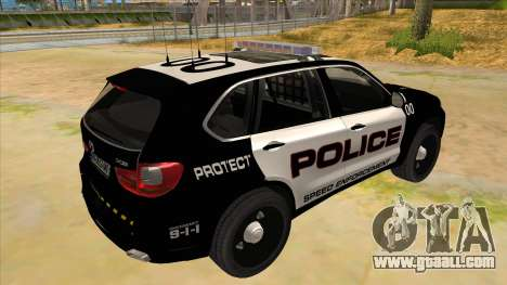 2014 BMW X5 F15 Police for GTA San Andreas right view