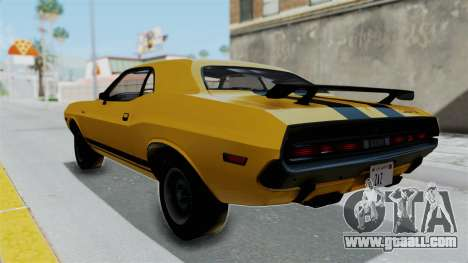 Dodge Challenger RT 440 1970 Six Pack for GTA San Andreas left view