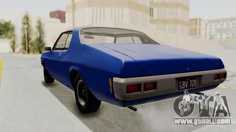 Holden Monaro GTS 1971 AU Plate IVF for GTA San Andreas left view