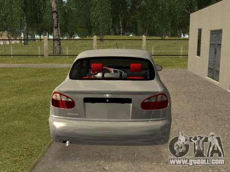 Daewoo Lanos (Sens) 2004 v1.0 by Greedy for GTA San Andreas back left view