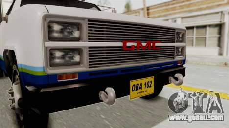 GMC Sierra 3500 for GTA San Andreas back view