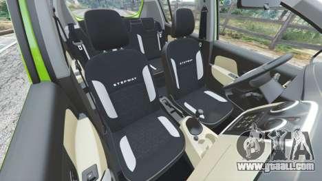 GTA 5 Dacia Sandero Stepway 2014 right side view