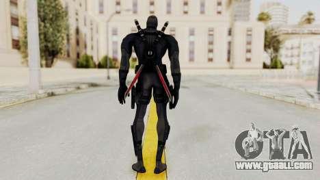 Black Deadpool for GTA San Andreas third screenshot