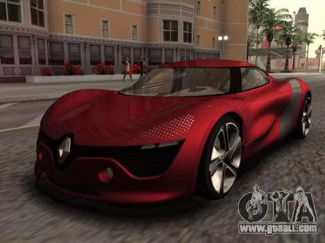 Renault Dezir Concept for GTA San Andreas back left view