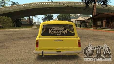 VAZ 2102 BK for GTA San Andreas back left view