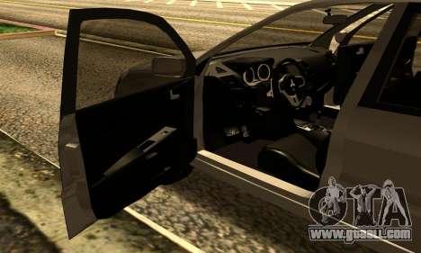 Mitsubishi Lancer 2005 for GTA San Andreas back view