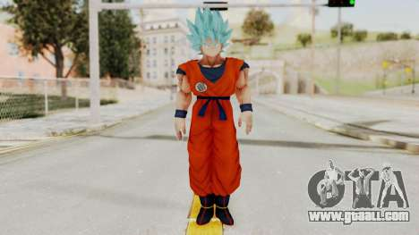Dragon Ball Xenoverse Goku SSGGSS for GTA San Andreas second screenshot