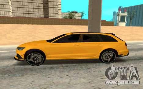 Audi RS6 Avant 2015 ABT for GTA San Andreas left view