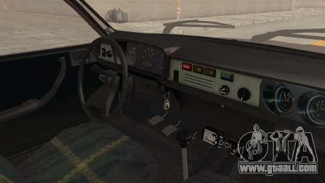 Dacia 1310 TX Tuning for GTA San Andreas inner view