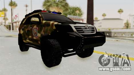 Toyota Fortuner 4WD 2015 Paraguay for GTA San Andreas back left view