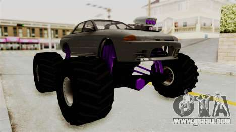 Nissan Skyline R32 4 Door Monster Truck for GTA San Andreas right view