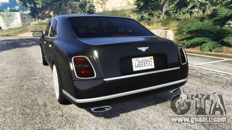 Bentley Mulsanne 2010 for GTA 5
