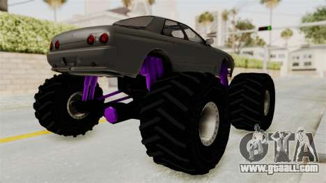 Nissan Skyline R32 4 Door Monster Truck for GTA San Andreas back left view