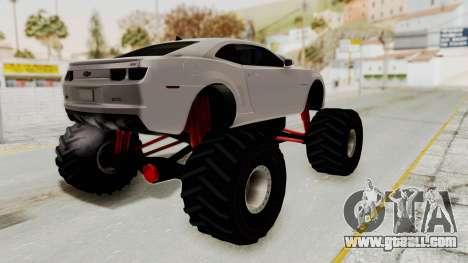 Chevrolet Camaro SS 2010 Monster Truck for GTA San Andreas left view