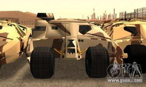 Army Tumbler Gun Tower from TDKR for GTA San Andreas upper view