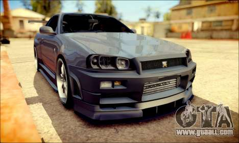 Nissan Skyline GT-R R34 for GTA San Andreas left view