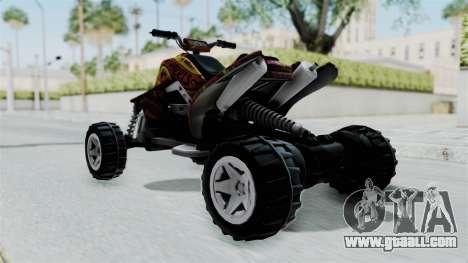 Sand Stinger from Hot Wheels v2 for GTA San Andreas back left view