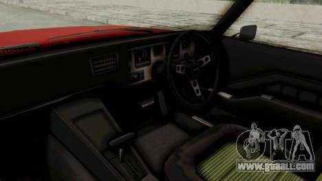 Holden Monaro GTS 1971 SA Plate IVF for GTA San Andreas inner view