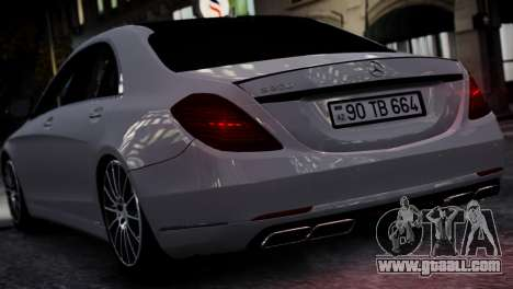 Mercedes-Benz w222 for GTA 4 right view