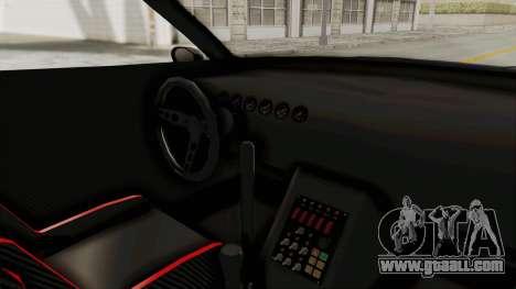 GTA 5 Annis Elegy Twinturbo Spec for GTA San Andreas inner view