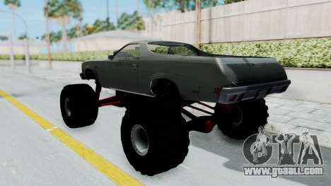 Chevrolet El Camino 1973 Monster Truck for GTA San Andreas back left view