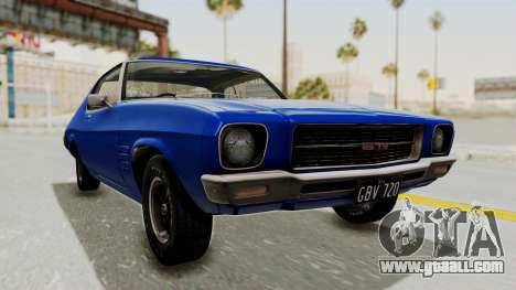 Holden Monaro GTS 1971 AU Plate IVF for GTA San Andreas right view