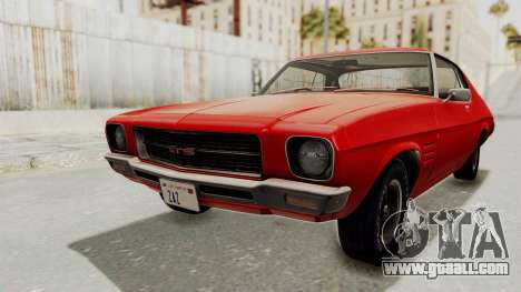Holden Monaro GTS 1971 SA Plate IVF for GTA San Andreas right view